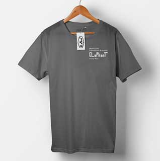 Elephant Moto Costa Rica Plain Gray T-Shirt
